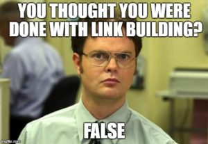 SEO meme dwight link building