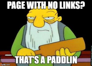 SEO meme page with no links