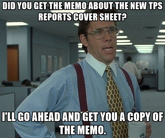 Office space meme about tps